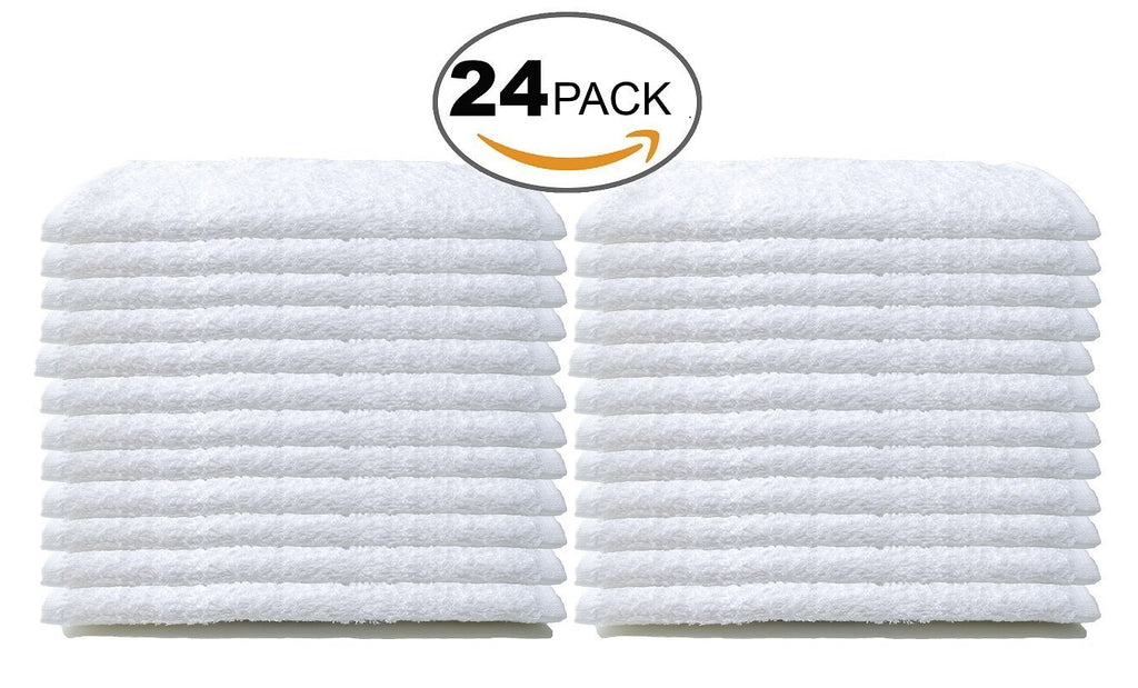 BC BARE COTTON Luxury Hotel & Spa Towel 100% Cotton Bath Towels - White - Set of 4
