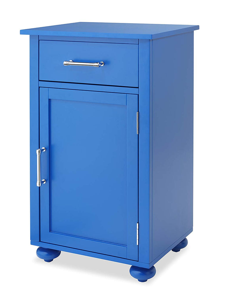 Whitmor Modern Single Door Storage Cabinet, Blue