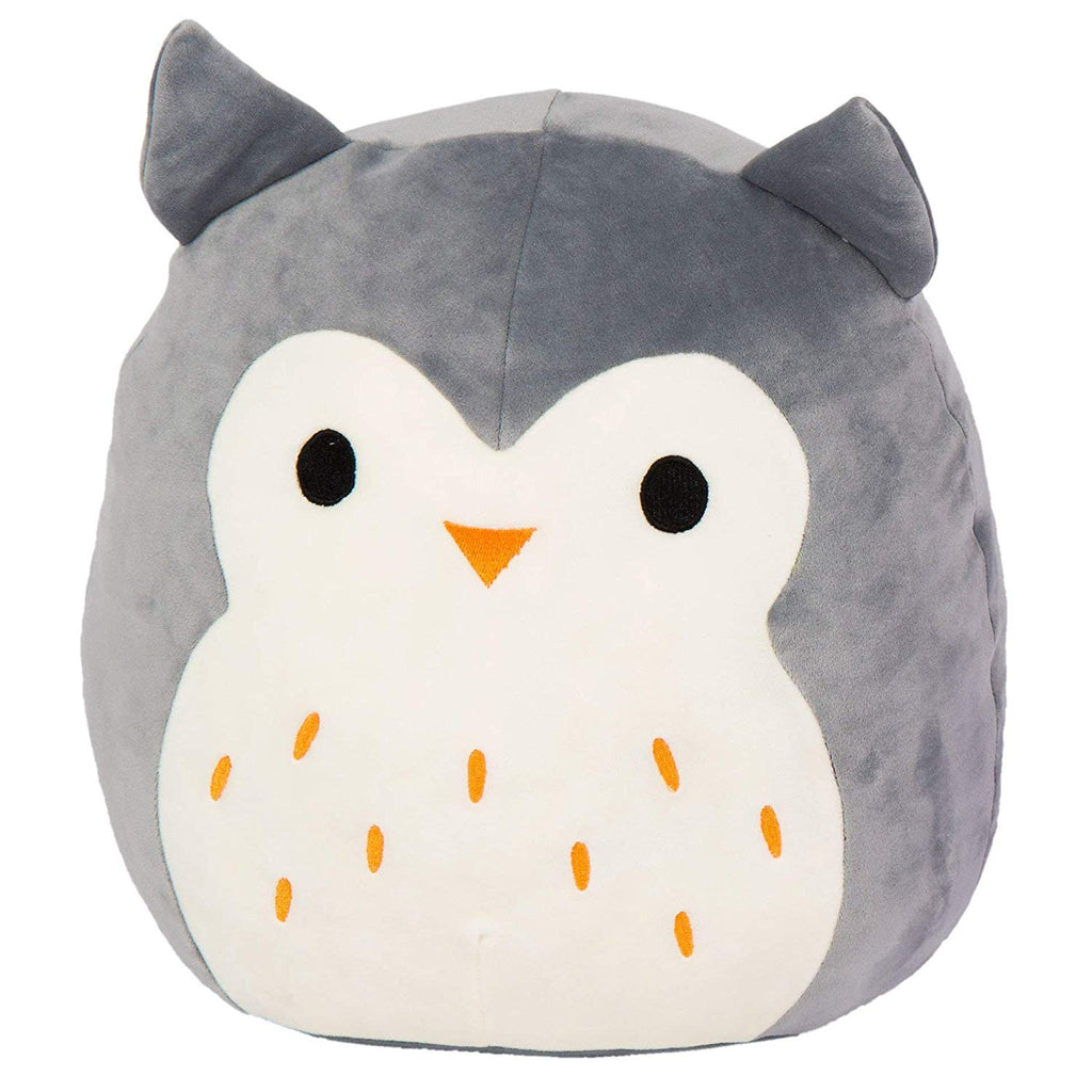 Kellytoy Squishmallow 8 Inch Hoot the Gray Owl Super Soft Plush Toy Pillow Pet