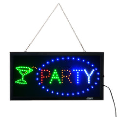FITNATE LED Open Sign, 23x14 inch Brighter&Larger Advertising Board Electric Lighted Display - Flashing or Steady Mode- Lighting up for Wedding, Holid