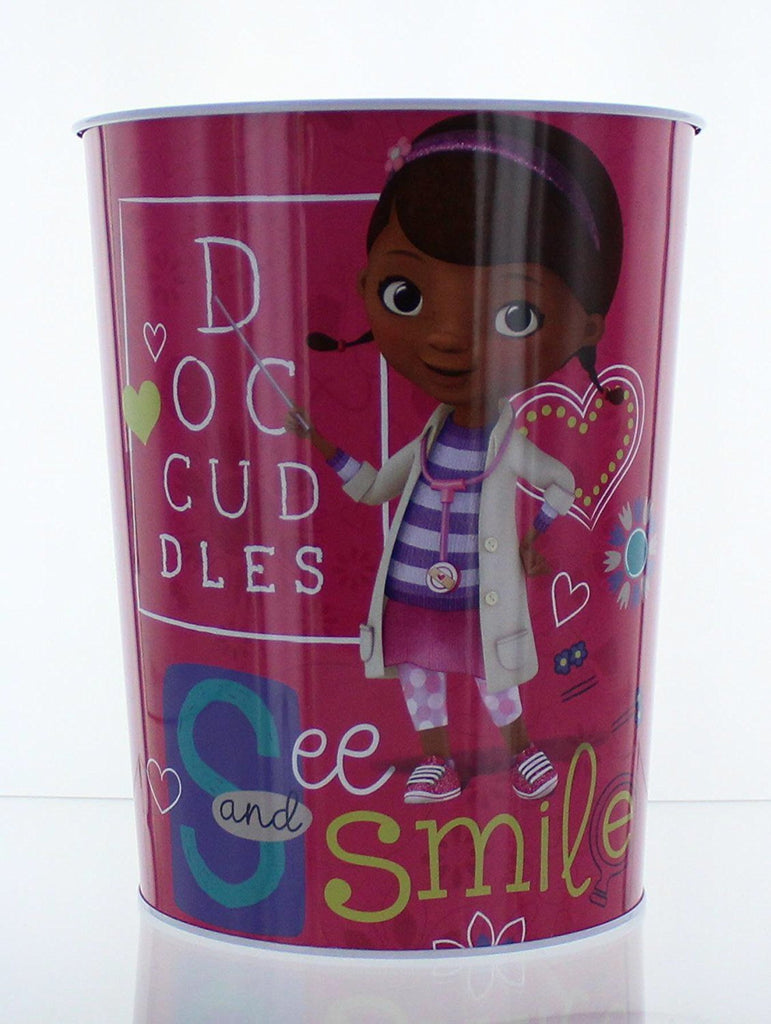 Disney 16866 Doc McStuffins Wastebasket - Garbage Can - See and Smile, Multi