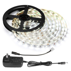 LE 12V LED Light Strip Kit, Flexible, 300 LEDs SMD 2835, 16.4ft Tape Light Kit for Home, Kitchen, Party, Under Cabinet and More, Power Adapter Include