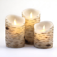 Flameless Candles With Birch effect 4