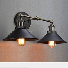 CLAXY Ecopower Industrial Edison Simplicity 2 Light Wall Mount Light Sconces Aged Steel Finished