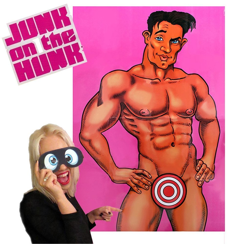 HoFire Pin the Macho on the Man Bachelorette Party Game & Hen Party Pin The Willy Junk On The Hunk And Willy Bingo To 12 Players (1Pcs)
