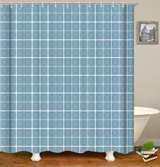 LIVILAN World Map Shower Curtain Set with 12 Hooks Bath Curtain Home Decorations Fabric Mildew Resistant Machine Washable Privacy Curtain, 70.8