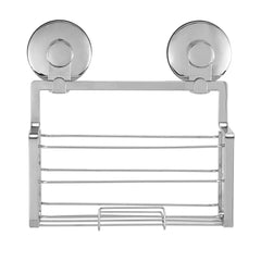 Everloc Solutions Suction Cup Shower Shelf, Chrome