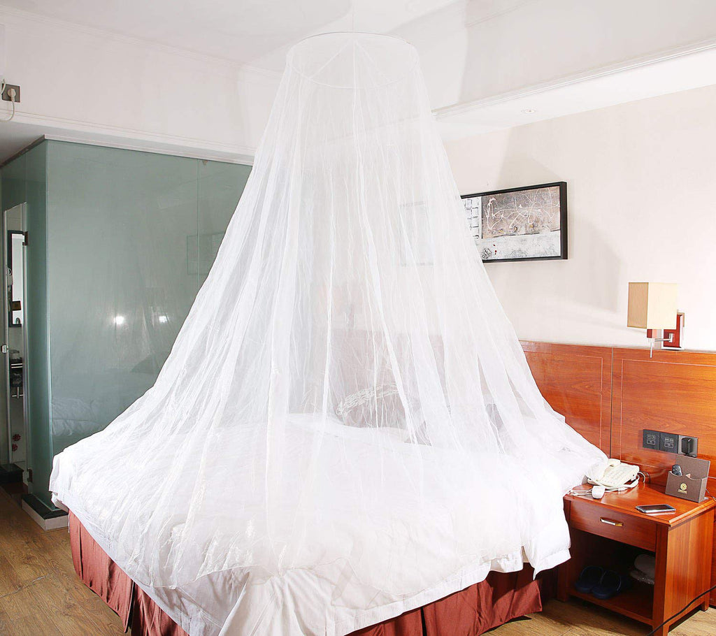 - MYJK Mosquito Net Bed Canopy With 2 Self-Adhesive Ceiling Hook -No