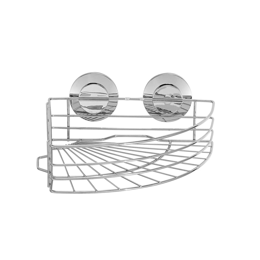 Everloc Push N' Loc Suction Cup Soap Holder, Chrome