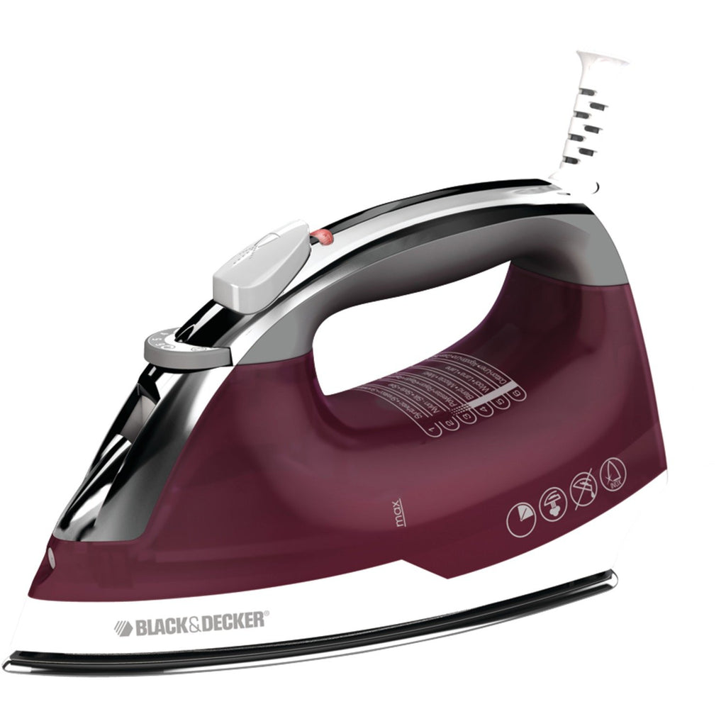 Black & Decker IR14V Quick Press Iron, Burgundy/White