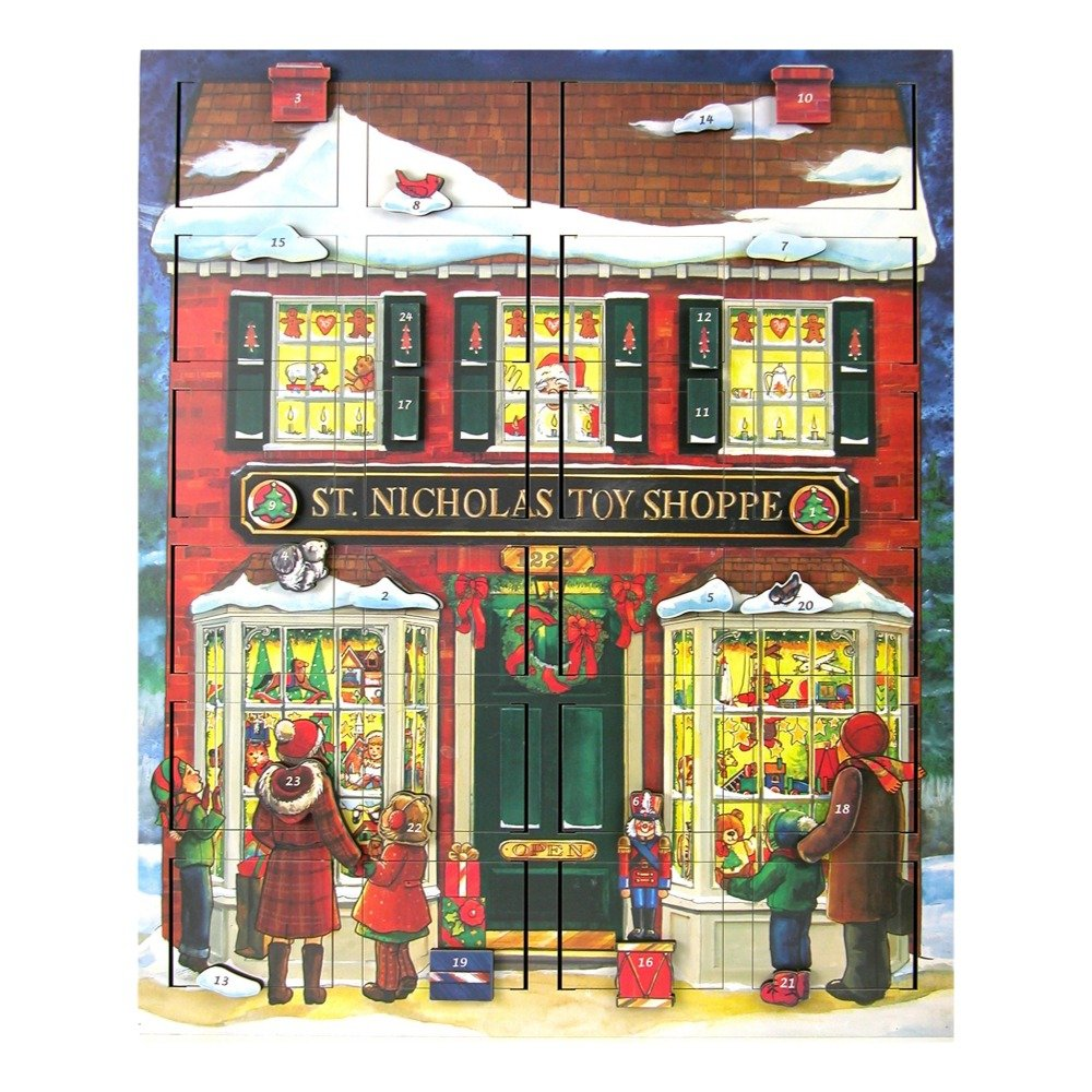 Byers' Choice St. Nick's Toy Shoppe Musical Advent Calendar #MC16