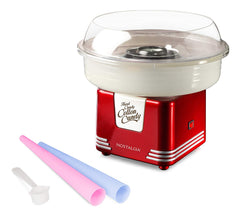 Nostalgia PCM405RETRORED Retro Series Hard & Sugar-Free Candy Cotton Candy Maker with Cotton Candy Party Kit