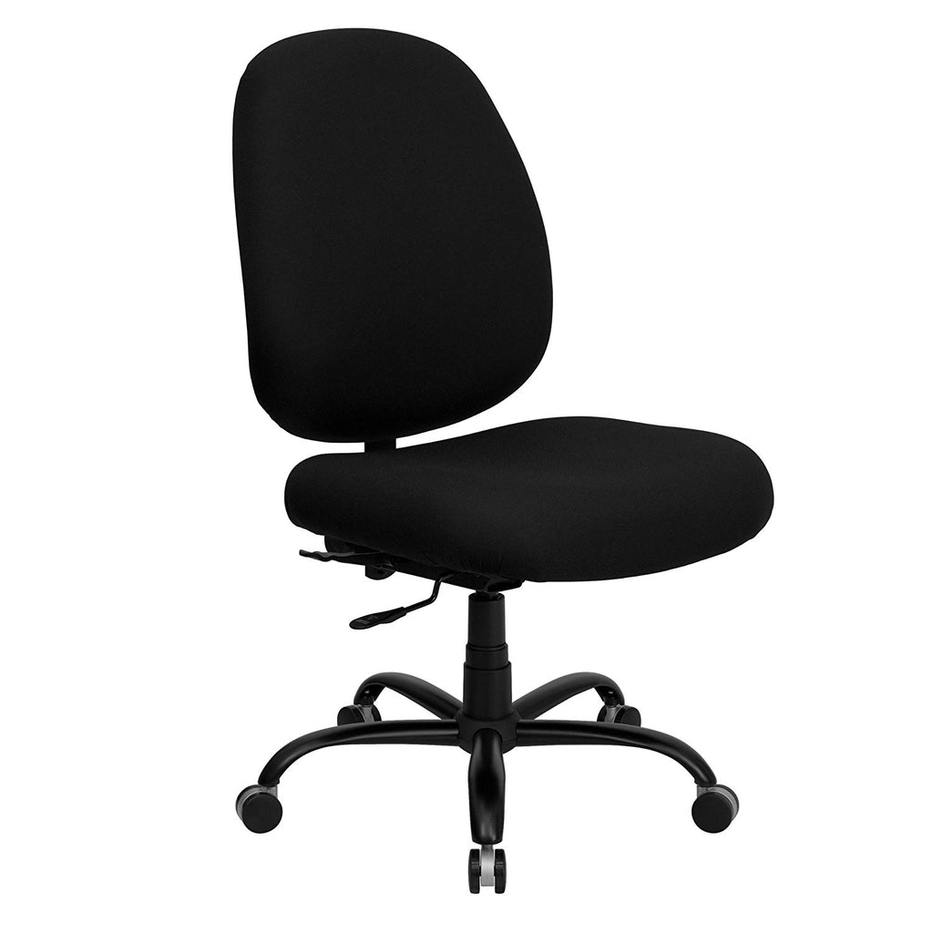Flash Furniture HERCULES Series Big & Tall 400 lb. Rated Black Fabric Executive Swivel Chair