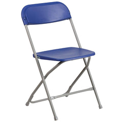 Flash Furniture Hercules Series 330 lb Capacity Plastic Folding Chair with Charcoal Frame, Multiple Colors