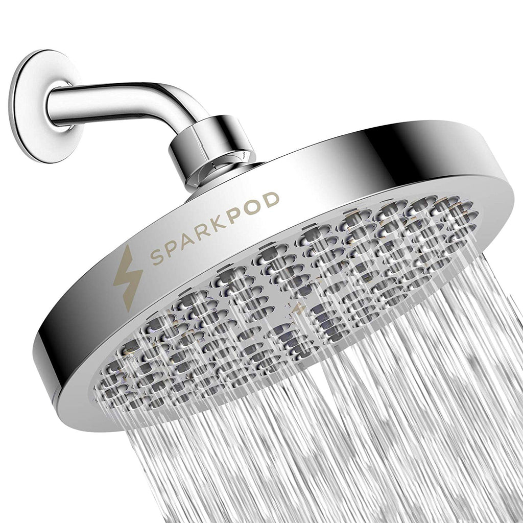 SparkPod Shower Head - High Pressure Rain - Luxury Modern Look - Easy Tool Free Installation - The Perfect Adjustable & Heavy Duty Universal Replaceme