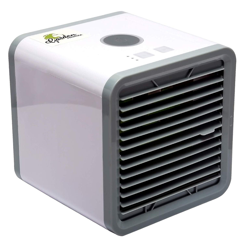 GARDEN PANACEA Air Conditioner – Mini Air Cooler – Personal Cooling Fan – Portable Air Conditioner – 2 in 1 Air Cooler Humidif