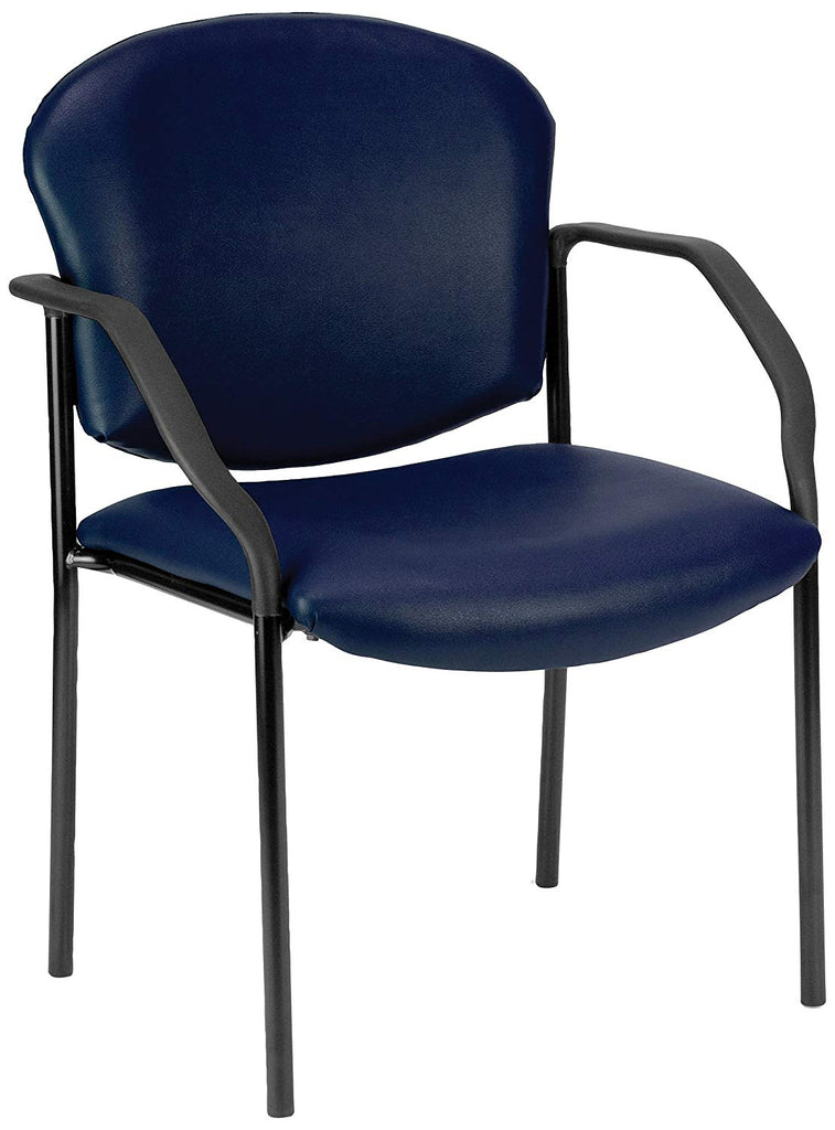 OFM 404-VAM-605 Manor Series Deluxe Vinyl Stacking Guest Chair, Navy