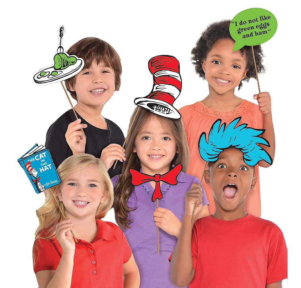 Costumes USA Dr. Seuss Photo Booth Props, Birthday Party Supplies, 13 Count