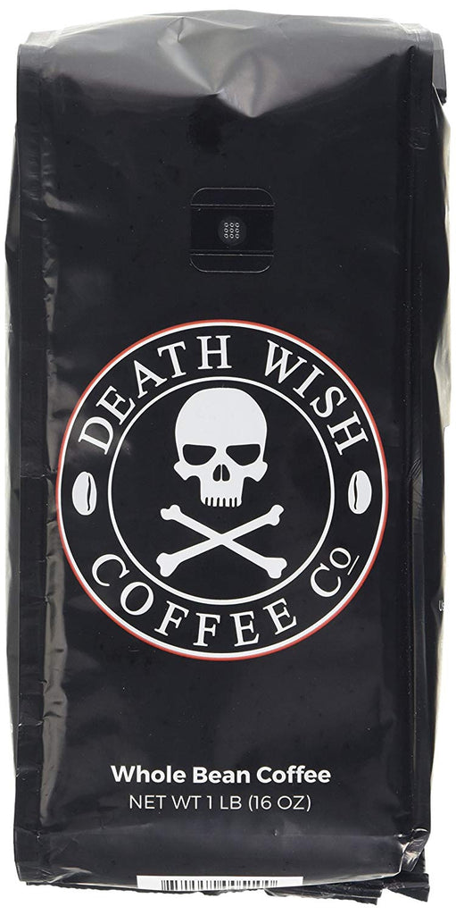 Death Wish Whole Bean Coffee Bundle Deal, The World's Strongest Coffee, Fair Trade and USDA Certified Organic - 1 LB(16 oz) - (Pack of 2)