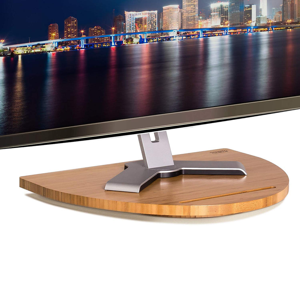 Prosumer's Choice 360 Rotating Bamboo Swivel Stand w/Steel Ball Bearings for LED LCD TV/Monitors 12""