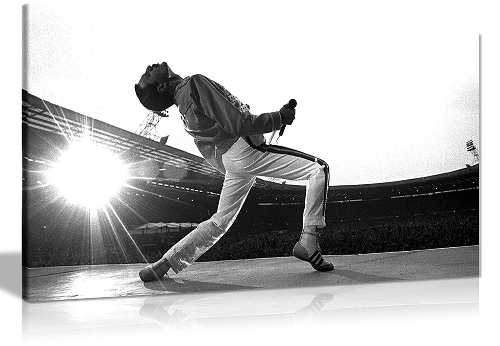 Panther Print Large Freddie Mercury Canvas Gallery Style 30X16 Inches 76.2 x 40.6 cm