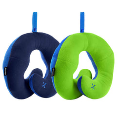 BCOZZY Chin Supporting Travel Neck Pillow - Supports The Head, Neck & Chin in Any Sitting Position. A Patented Product. Adult Size, Trendy Pineapple