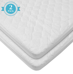 American Baby Company Waterproof Fitted Quilted Cradle Mattress Pad Cover