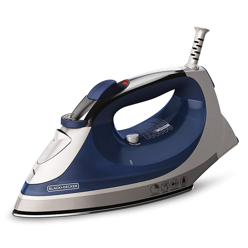 BLACK+DECKER Corded Xpress Steam Iron, Blue, IR08X