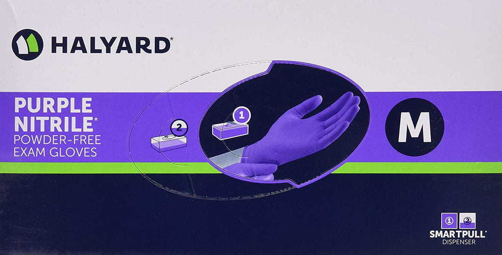 Halyard Health Nitrile Glove, Purple, Medium, 100 Count