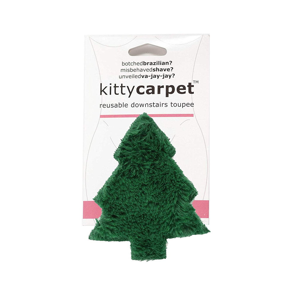 Fashion First Aid Women's Kitty Carpet Reusable Downstairs Toupee Merkin, One Size - Great Gag Gift (Christmas Tree Green)