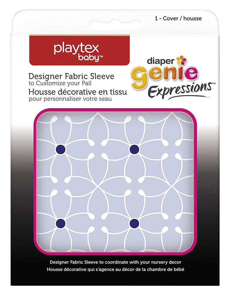 Playtex Diaper Genie Expressions Diaper Pail Fabric Sleeve, Blue Tile