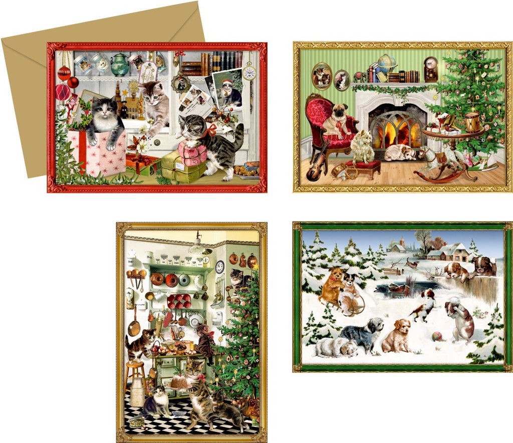 Coppenrath Unique Advent Christmas Calendar Cards- Beautiful Fold Out - Premium Made in Germany - Christmas Animals Selection of Advent