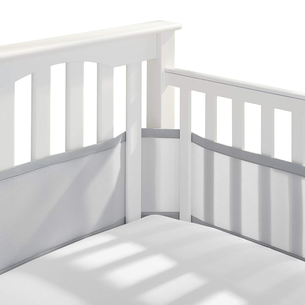 BreathableBaby | Breathable Mesh Crib Liner | Patented Design | Doctor Endorsed | Helps Prevent Arms and Legs from Getting Stuck Between Crib Slats |