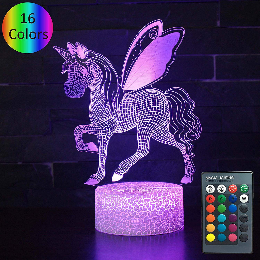 Unicorn Night Light for Kids, 7 Colors Night Light lamp (Unicorn4)