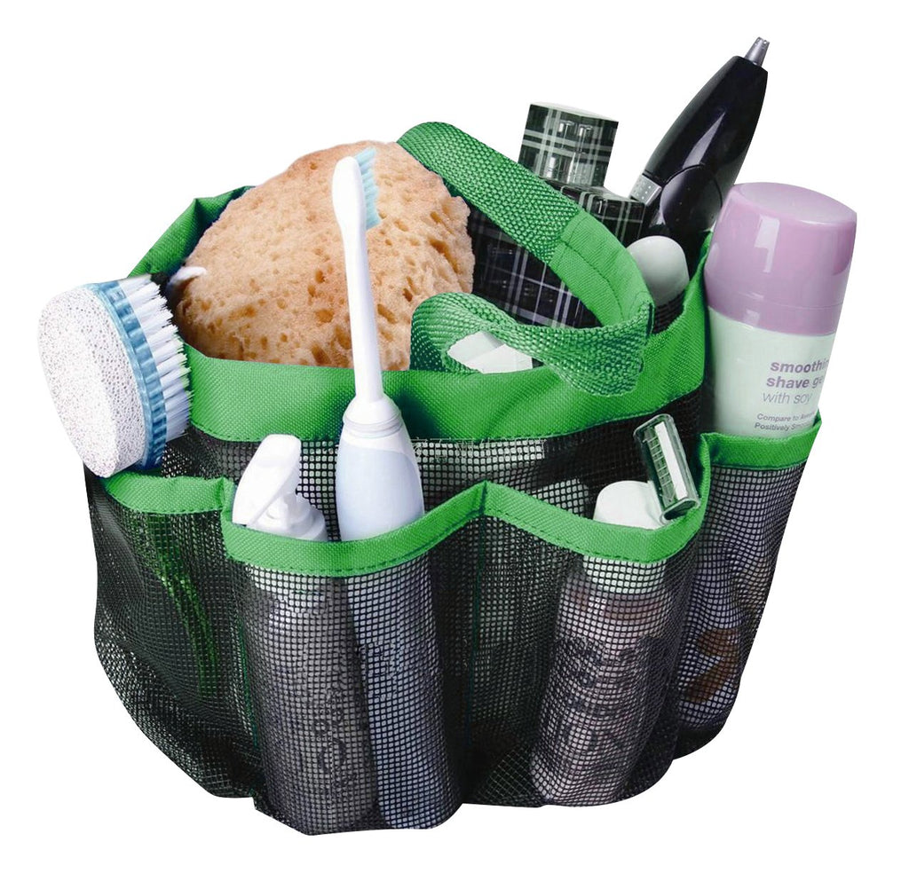 Attmu Mesh Shower Caddy, Quick Dry Shower Tote Bag Oxford Hanging Toiletry and Bath Organizer with 8 Storage Compartments for Shampoo, Conditioner, So