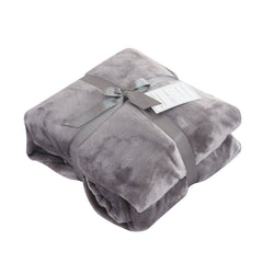 Caitlin White Throw Blanket for Couch/Sofa/Bed, Luxury Super Soft Microplush Velvet, 50