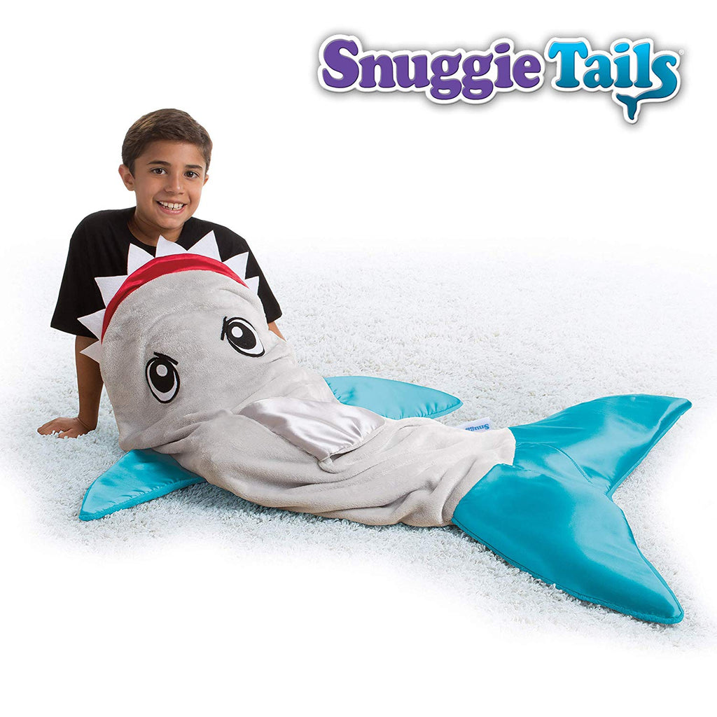 Snuggie Tails SHARK- Tails Comfy Cozy Super Soft Blanket for Kids, As Seen on TV