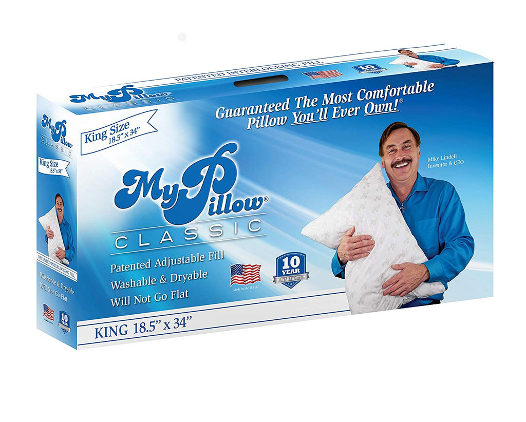 My Pillow Classic Series [Std/Queen, Least Firm Fill] Now Available in 4 Loft Levels | Patented Adjustable Interlocking Fill | Sleep Study Proven