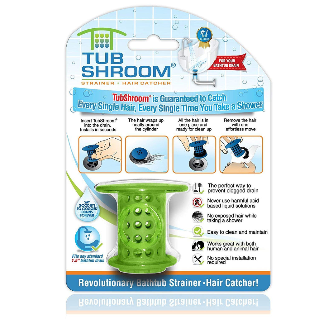 TubShroom. The Revolutionary Tub Drain Protector Hair Catcher/Strainer/Snare, Orange