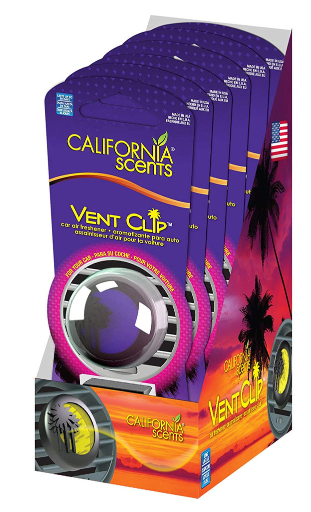 California Scents Vent Clip 6-Unit Tray, Verri Berry (Pack of 6)