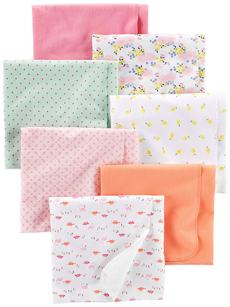 Simple Joys by Carter's Baby Girls' 7-Pack Flannel Receiving Blankets