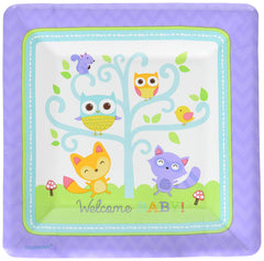 "Amscan Woodland Welcome Square Plates, 7"", 96 Ct."