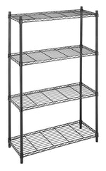 Whitmor Supreme 4 Tier Shelving with Adjustable Shelves and Leveling Feet - Chrome