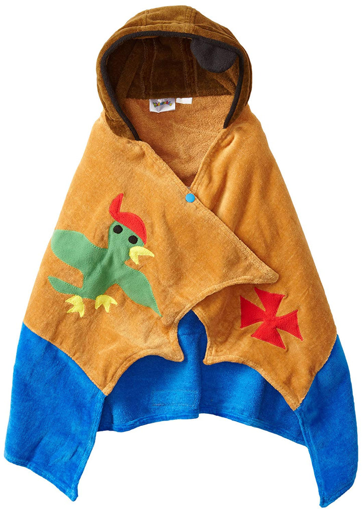 Kidorable Boys 2-7 Pirate Towel, Brown, Small Soft Bathrobe For Childrens