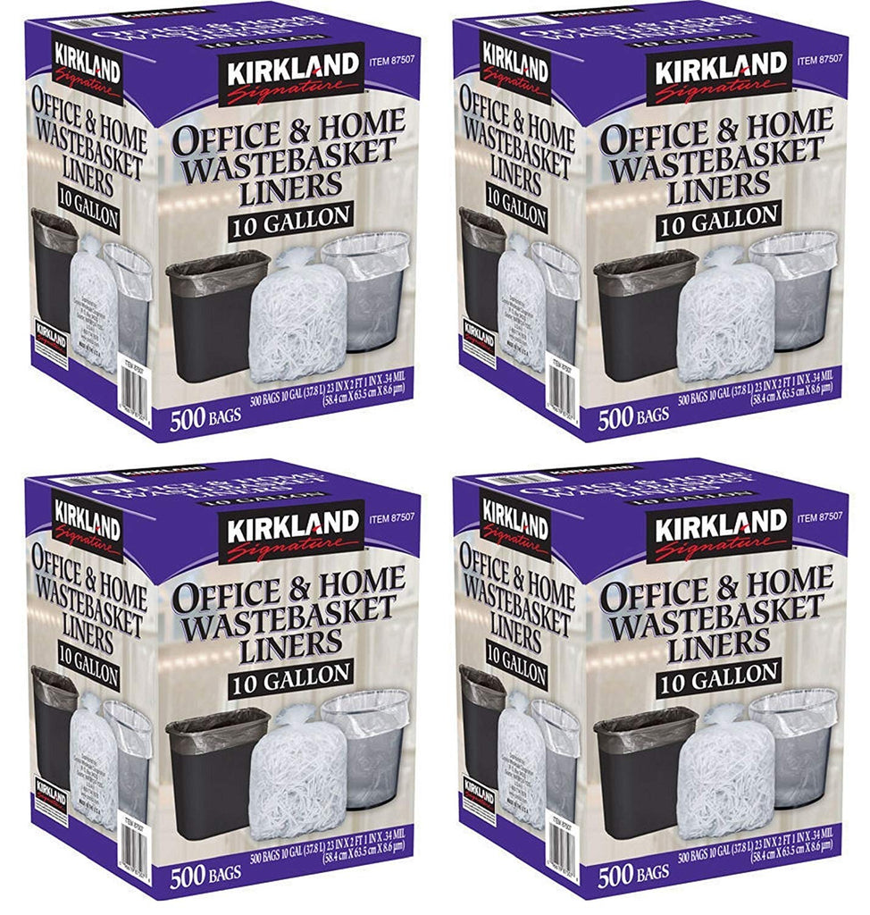 Kirkland Signature 10 Gallon Clear Wastebasket Liner