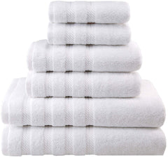 Premium, Luxury Hotel & Spa Quality, 6 Piece Kitchen and Bathroom Turkish Towel Set, Cotton for Maximum Softness and Absorbency by American Soft Linen