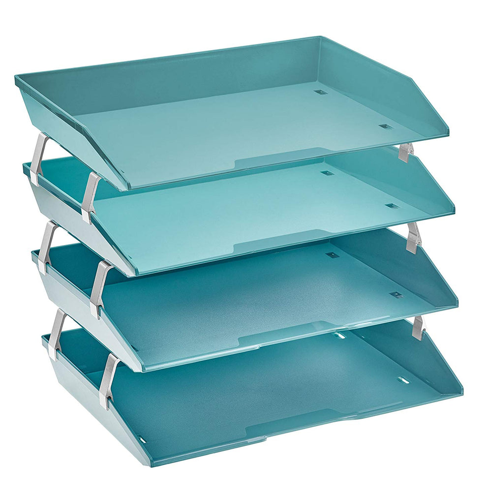Acrimet Facility Letter Tray 4 Tiers (Solid Green Color)