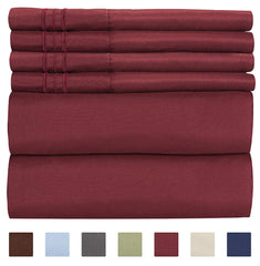 Twin Size Sheet Set - 4 Piece - Hotel Luxury Bed Sheets - Extra Soft - Deep Pockets - Easy Fit - Breathable & Cooling - Wrinkle Free - Comfy - Light B