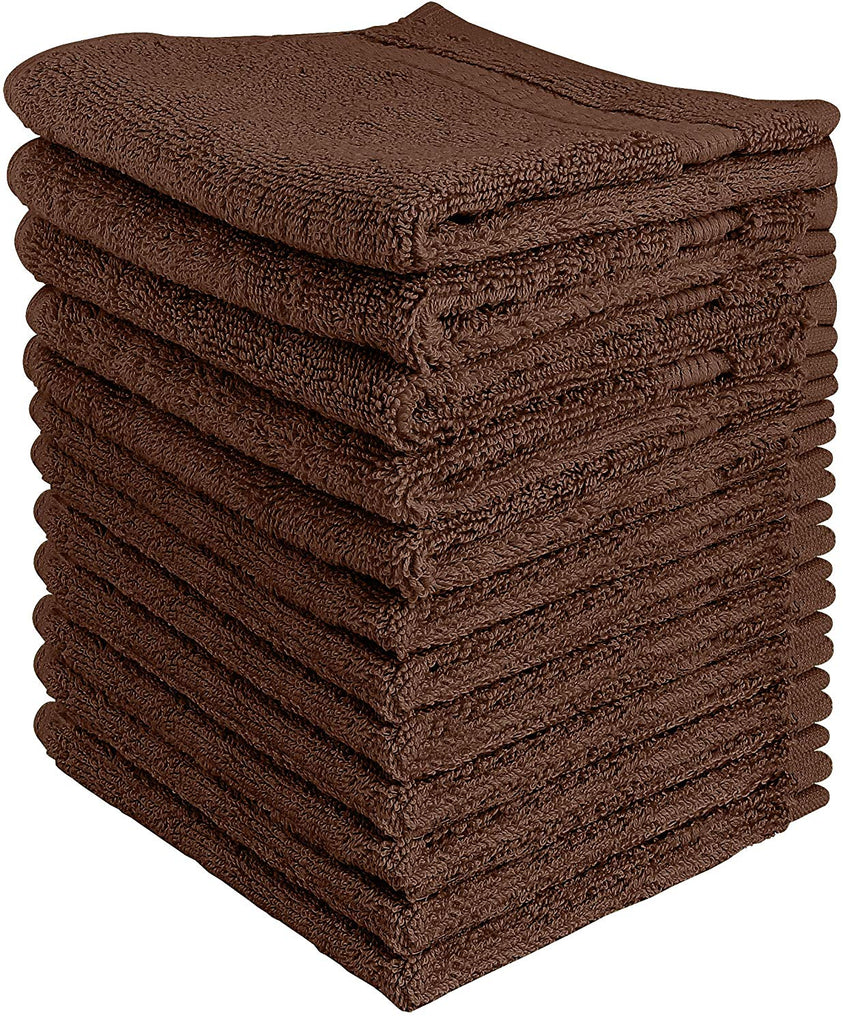 Utopia Towels Luxury Cotton Washcloth Towel Set (12 Pack Sage Green 12 x 12 Inches) Multi-purpose Extra Soft Fingertip towels, Highly Absorbent Face C