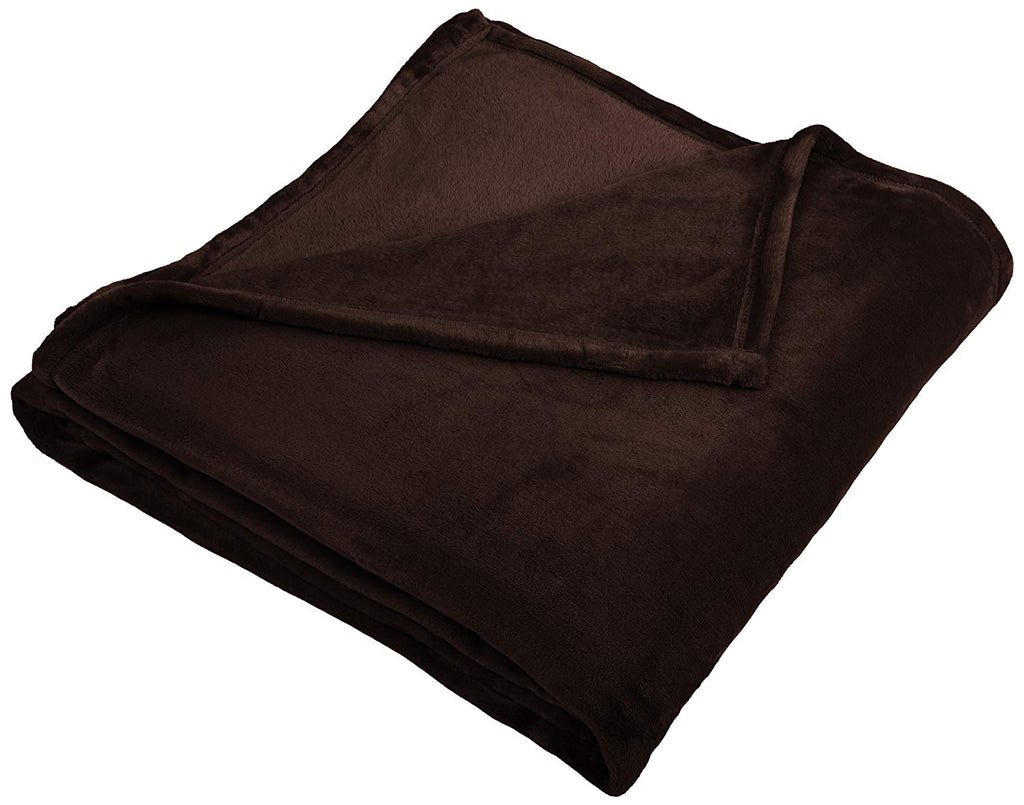 Pinzon Velvet Plush Blanket - Full/Queen, Chocolate